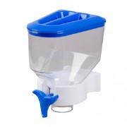 Porta Cereal Azul Simples de Parede