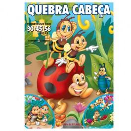 Quebra Cabeça Progressivo Joaninha 30/45/56 Peças