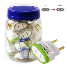 Adaptador para Tomada 2P 10 Ampére e 250 Volts Pote com 24