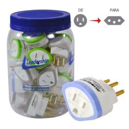 Adaptador para Tomada 2P+T 10 Ampére e 250 Volts Pote com 24