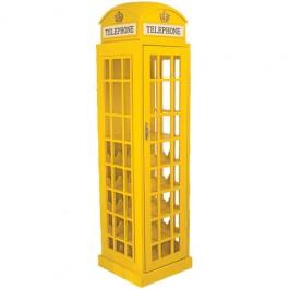 Adega em Forma de Cabine Telefônica Londres Grande Amarela