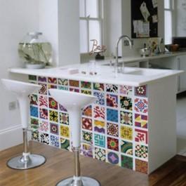 Adesivo Decorativo de Parede Azulejo Hidráulico