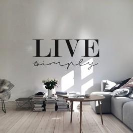 Adesivo Decorativo de Parede Live Simply