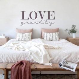 Adesivo Decorativo de Parede Love Greatly