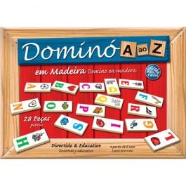 Dominó de A a Z em Madeira