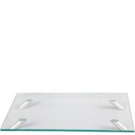 Bandeja de Vidro Retangular 40 cm