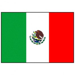 Bandeira do Mexico 1.60 Mt.
