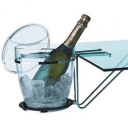 Balde para Champanhe,Espumante e Vinho Vitra com Suporte Piatina