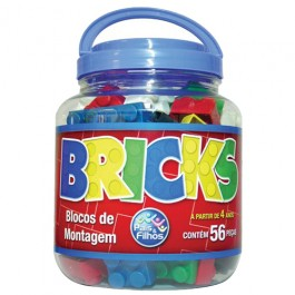 Blocos de Montagem Bricks 56 Peças