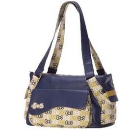 Bolsa Hello Kitty Amarelo e Azul Marinho HKSN301