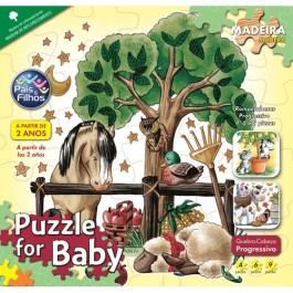 Quebra Cabeça Puzzle for Baby Progressivo 4/6/9 Peças