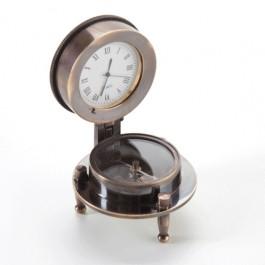 Bússola com Relógio de Mesa