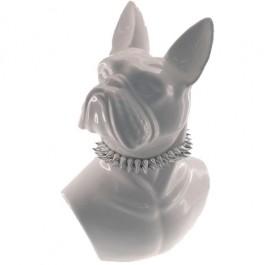 Busto de Buldog em Cerâmica