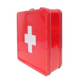 Caixa de Medicamentos Medicine Vermelha em Metal