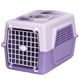 Caixa para Transporte de Animais Rosa e Roxo