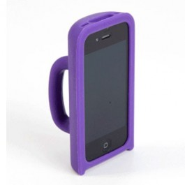 Capa para Iphone 4 Roxa de Silicone