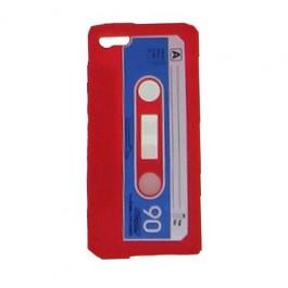 Capa para Iphone 5 em Forma de Fita Cassete Vermelha