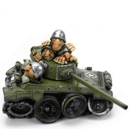 Caricatura Tanque Exército Cofrinho