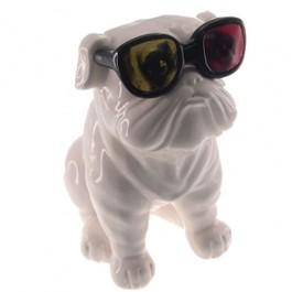 Cofrinho Buldog com Óculos 3D
