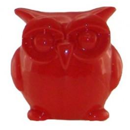 Cofre Coruja Vermelha em Cerâmica