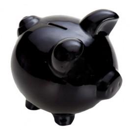 Cofre Porco Preto em Cerâmica