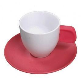 Conjunto com 06 Xícaras Café em Porcelana Bicolor