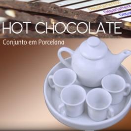 Conjunto de Porcelana para Chocolate Quente