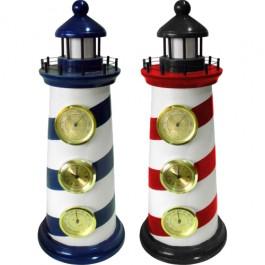 Farol Marítimo com Relógio, Higrômetro e Termômetro 2 Peças