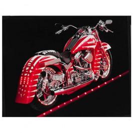 Quadro Moto Harley Davidson Vermelha com