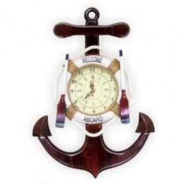 Relógio de Parede em Forma de Âncora