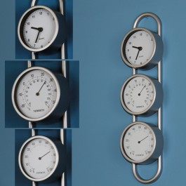Relógio de Parede com Higrômetro e Termômetro