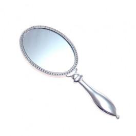 Espelho de Mão Coroa Prata