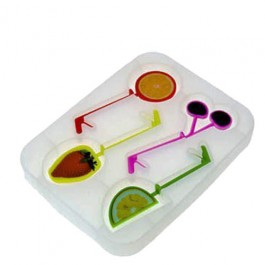 Forma de Gelo em Silicone Cocktail 4 Fruits