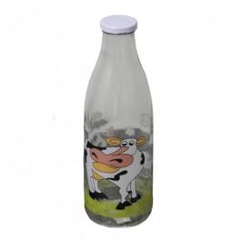 Garrafa de Vidro para Leite Vaca Napa