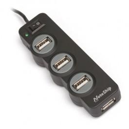 Hub 4 Portas USB 2.0 com Switch
