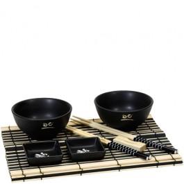 Jogo Japonês para Jantar Preto
