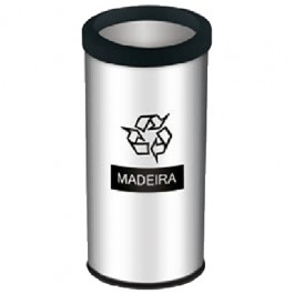 Lixeira Seletiva para Madeira 40.5 Litros