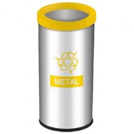 Lixeira Seletiva para Metal 40.5 Litros