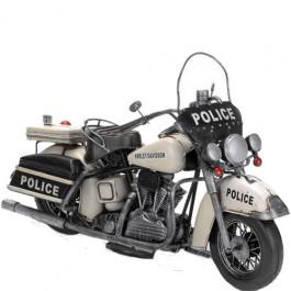 Miniatura Harley Policia Branca
