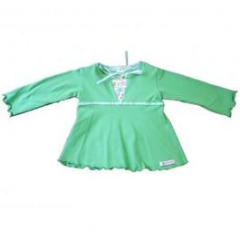 Vestido em Cotton Verde com Apliques