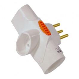Multiplicador para Tomada 3S 2P+T 10 Ampére e 250 Volts
