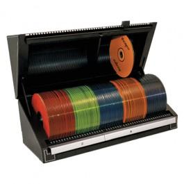 Porta CD/DVD Com Seletor e Indice Automático de Busca Black 100