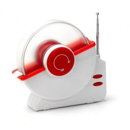 Porta CD/DVD de Mesa com Rádio FM Vermel