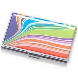 Porta Cartão Color em Metal e Resina