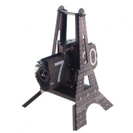 Relógio de Mesa Torre Eiffel com Flip