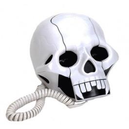 Telefone Caveira Branca