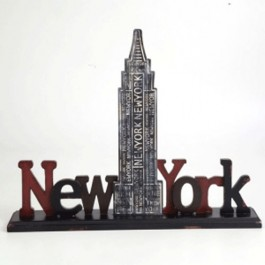 Placa New York Decorativa para Mesa