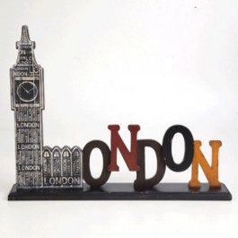 Placa London Decorativa para Mesa