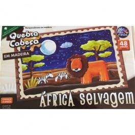 Quebra Cabeça Africa Selvagem em Madeira