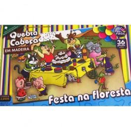 Quebra Cabeça Festa na Floresta em Madei